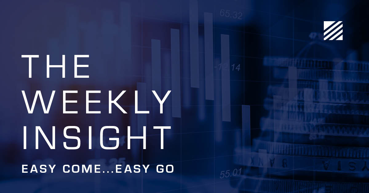 The Weekly Insight: Easy Come, Easy Go Graphic
