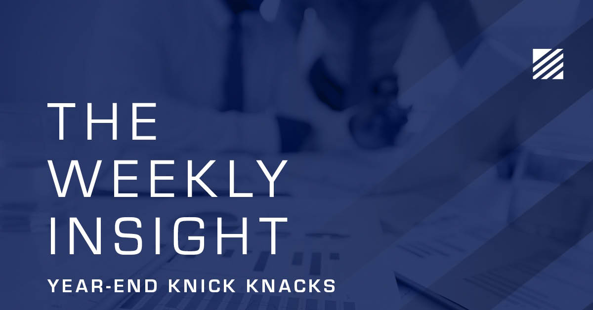 Weekly Insight: Year-End Knick Knacks Graphic