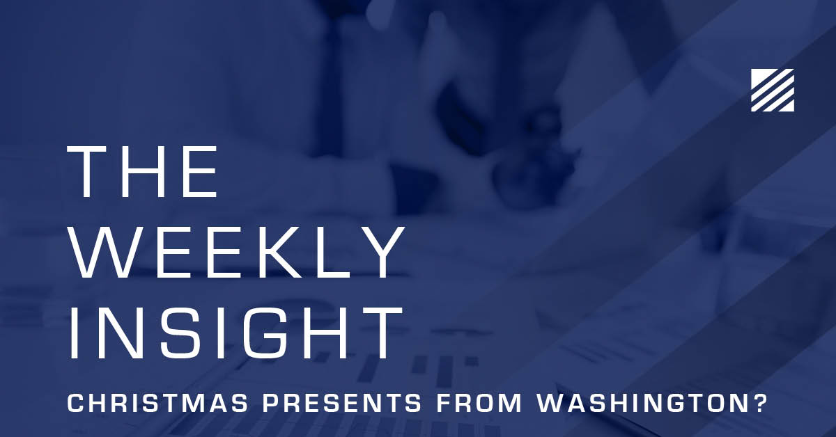 The Weekly Insight: Christmas Presents from Washington? Graphic
