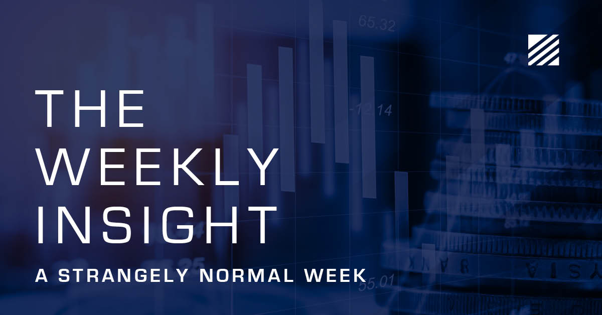 The Weekly Insight: A Strangely Normal Week Graphic
