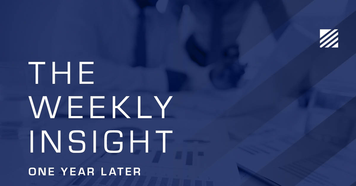 The Weekly Insight: One Year Later Graphic