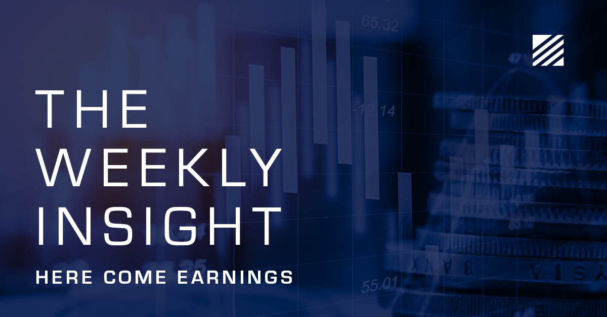 The Weekly Insight: Here Come Earnings Graphic